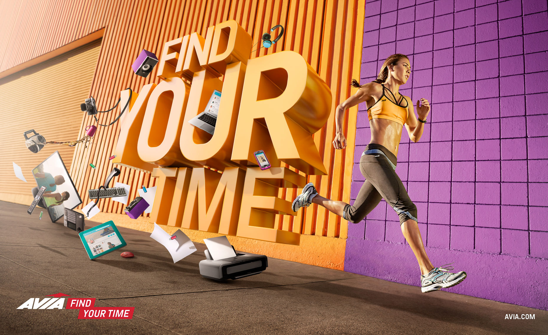 AVIA - FIND YOUR TIME Campaign PRINT ADS-1